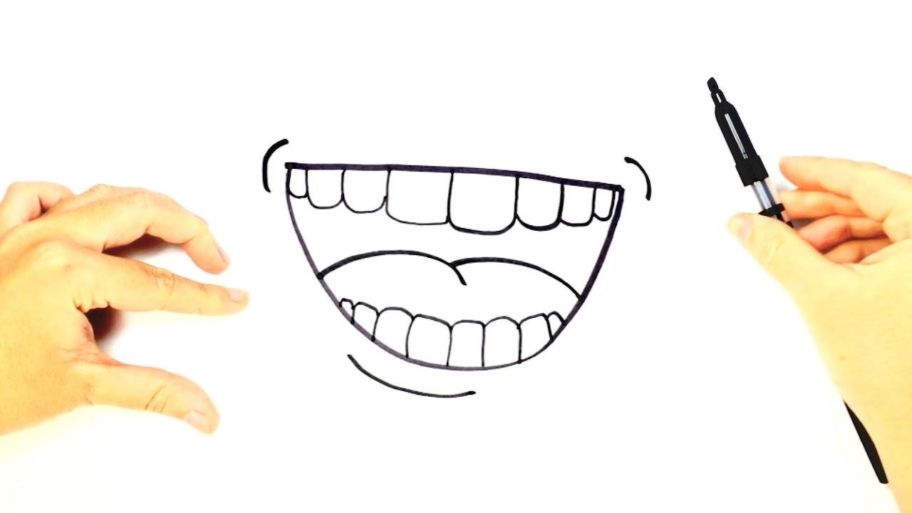 C mo dibujar una boca para ni os dibujo f cil de una for Comedor facil de dibujar