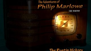 "Philip Marlowe ""The Rustin Hickory"" 9/10/49 Gerald Mohr Oldtime Radio Noir Crime Drama"