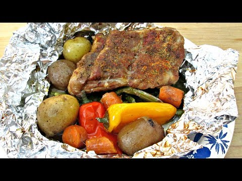 Baby Back Ribs Tin Foil Dinner - PoorMansGourmet
