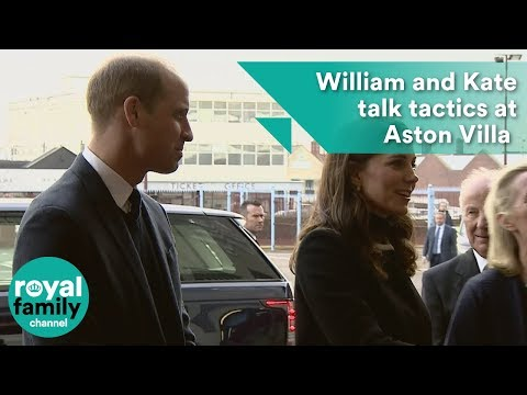 William and Kate talk tactics at Aston Villa