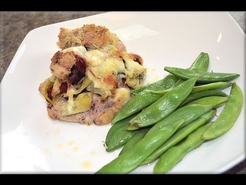 Stuffed Chicken with Mozzarella Cheese, Artichoke Hearts & Sun Dried Tomatoes - CookwithApril