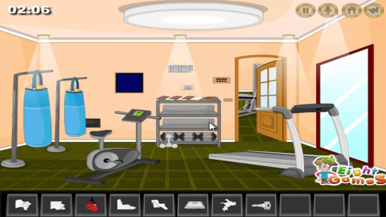 Gym room escape walkthrough youtube