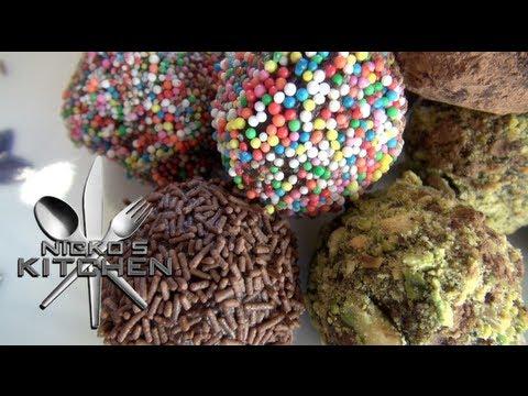 CHOCOLATE TRUFFLES - Nicko\'s Kitchen - YouTube