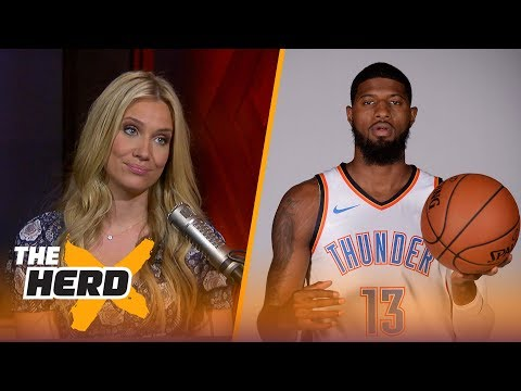 Paul George suggests he's going to stay in OKC for a while - Kristine and Colin react | THE HERD