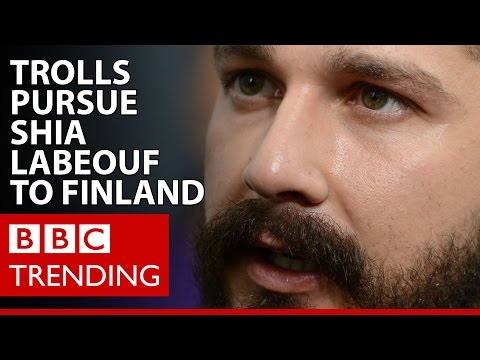 How 4chan trolls pursued Shia LaBeouf to Finland - BBC Trending