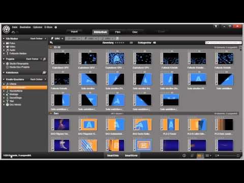 Bibliothek Übersicht in Pinnacle Studio 16 und 17 Video 18 von 114