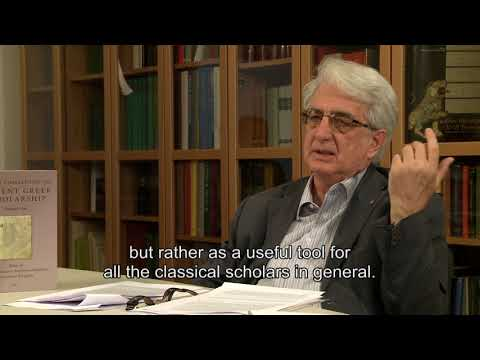 Presentation of sources - Franco Montanari interview on Lexicon of Greek Grammarians (6/6)