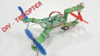 How To Make A Tricopter Mini Using Popsicle sticks