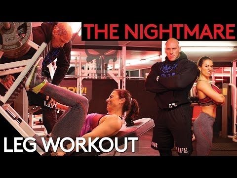 Martyn Ford gives Bikini Girl a NIGHTMARE Leg Workout | WARNING Distressing Viewing