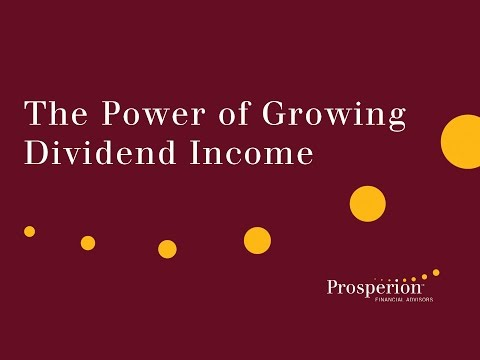 The Power of Growing Dividend Income