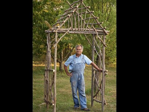 How To Make A Diy Rustic Pergola Youtube