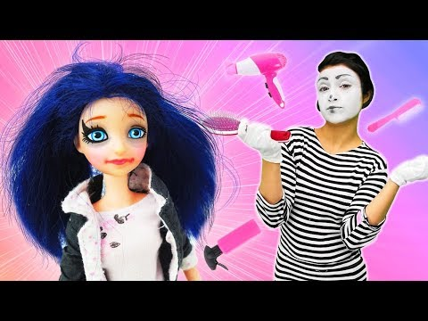 Marinette kisses Adrian on a date: Makeup for dolls