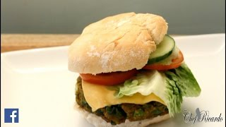 VEGETABLE BURGER !!JAMAICAN CHEF Chef Ricardo Cooking