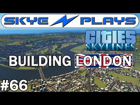 Cities Skylines London #66 ►The Riverside!◀ [Snowfall/AfterDark]