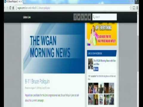 WGAN Morning News Radio Interview  8 11 14