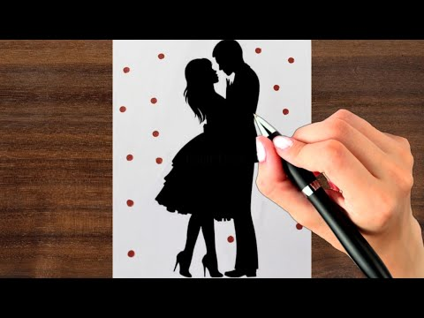 how-to-draw-romantic-couple-!-simple-couple-drawing-step-by-step-!-valentine's-day-drawing