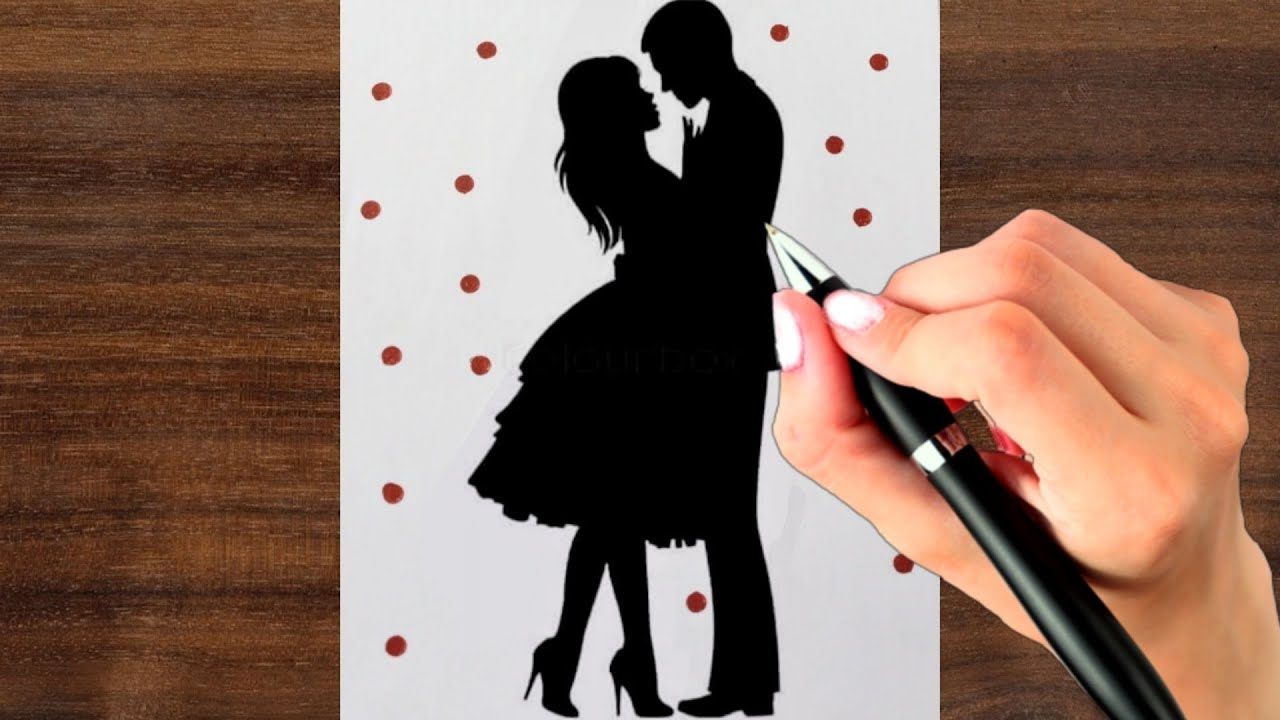 How To Draw Romantic Couple Simple Couple Drawing Step By Step Valentine S Day Drawing Youtube