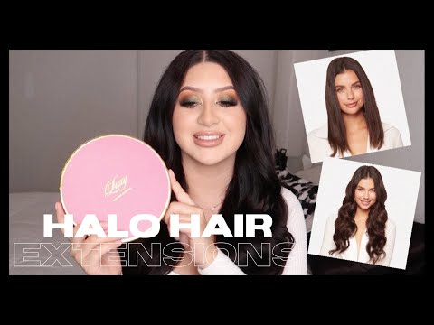 LUXY HALO HAIR EXTENSIONS: REVIEW + DEMO