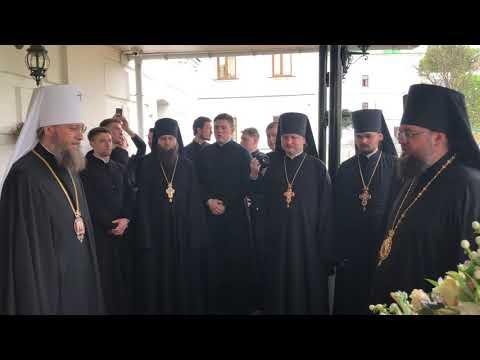 Поздравление Киевских Духовных школ с Воскресением Христовым.