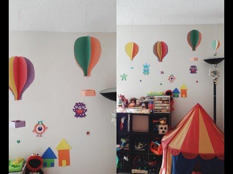 Paper hot air balloon/ DIY kids room decor/ Simple paper craft