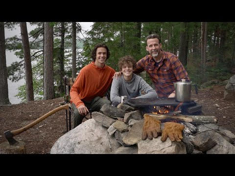 OFF GRID BASE CAMP/ Fishing Remote Lakes For Wild Trout With My Sons From Swift Packboat And Canoe