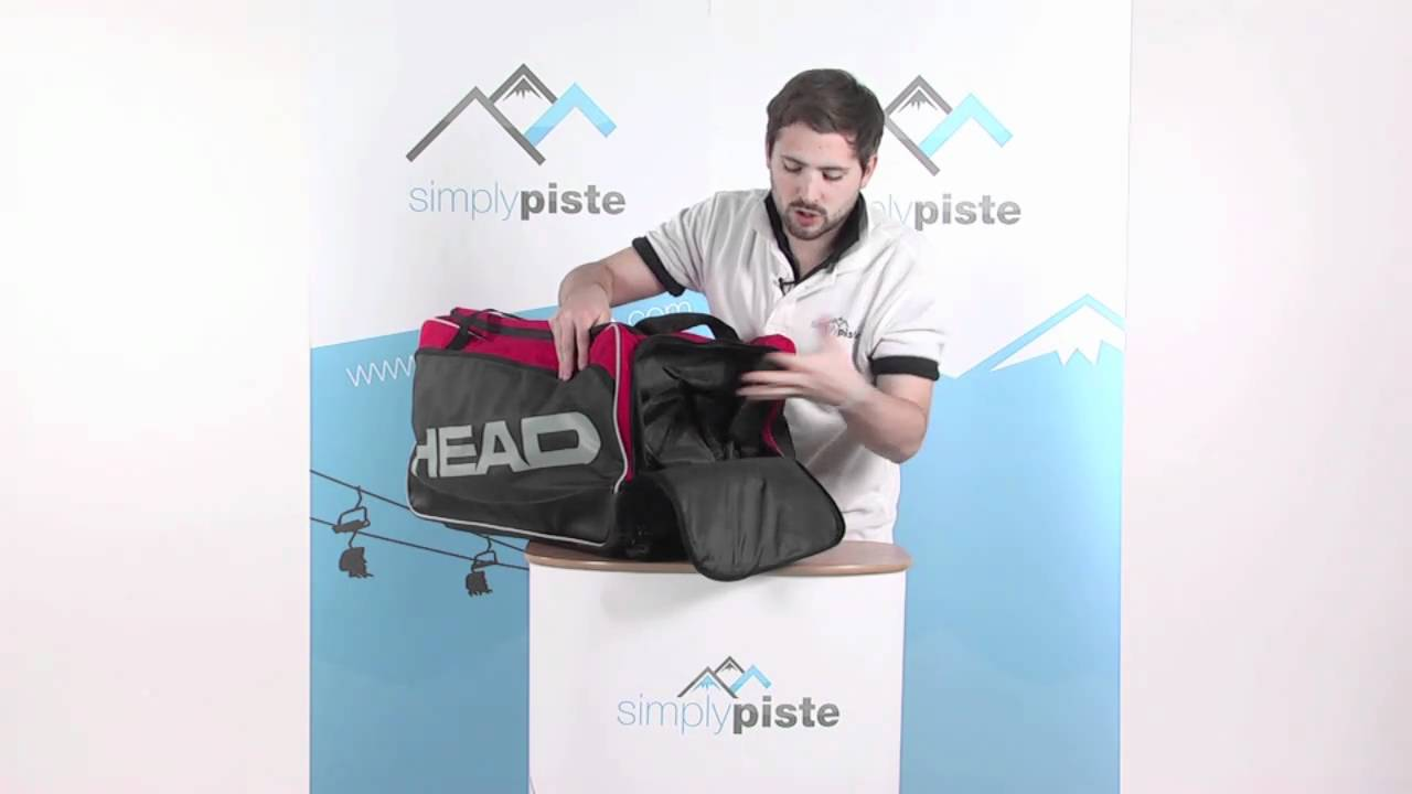 Head Ski Travelbag - Dark Grey and Red - www.simplypiste.com - YouTube c3c64b82b4