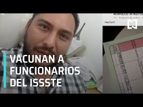 Chofer y funcionario del ISSSTE reciben vacuna contra COVID-19, caso de influyentismo - Despierta