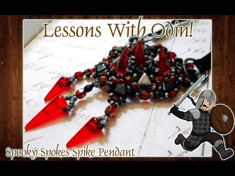 Spooky Spokes Spike Bead and Kheops Par Puca Beaded Pendant Tutorial - Lessons With Odin