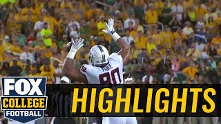 Oklahoma State uses tip drill to grab third turnover vs. Baylor - 2016 College Football Highlights