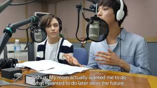 tbs eFM (101.3MHz) K-Popular interview with Seventeen 세븐틴 Joshua & Vernon - 1