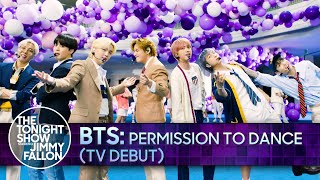 BTS: Permission to Dance (TV Debut)   The Tonight Show Starring Jimmy Fallon
