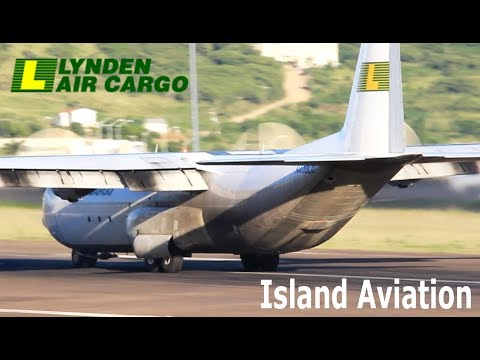 Lynden Air Cargo Lockheed L-100 arrival compilation @ St. Kitts Airport