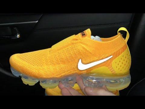 55da40f4e27e Nike Air VaporMax Moc 2 Gold sneakers - YouTube