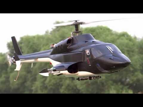 New Version Full Custom Airwolf 500size RC Heli Test Flight