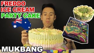 Mukbang Freddo Ice Cream Party Cake Australian Classic Youtube