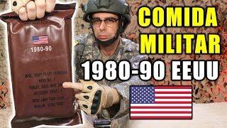 Probando COMIDA MILITAR de 1980-90 de ESTADOS UNIDOS   MRE EEUU 1980-1990 Menú 7