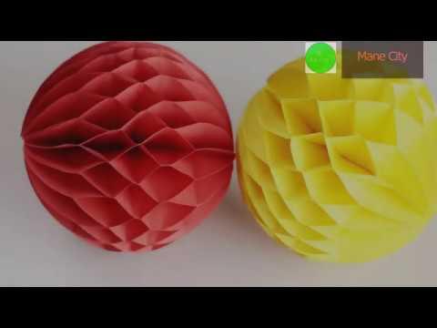 Mane city How to make a Paper Honeycomb Ball DIY 2019