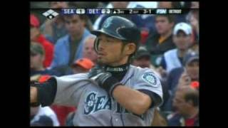 Mariners 8 @ Tigers 12, F -- Ichiro Suzuki goes 3-for-4 with a stol...