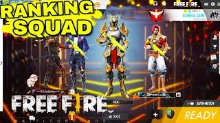 Free Fire Live  SOLO VS SQUAD Rank  Heroic Game Play With Member [INDIA]