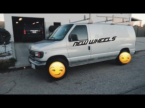 NEW WHEELS ON THE MOBILE VAN | BLACKMARKET WINDOW TINT  1998 Ford Econoline E-250