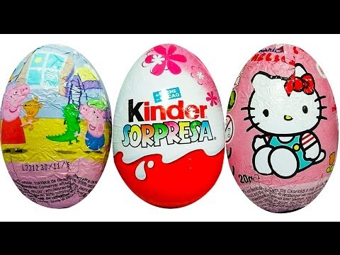 3 HUEVO SORPRESA, HUEVO SORPRESA PEPPA PIG, HUEVO KINDER SORPRESA PRINCESAS DISNEY Y HELLO KITTY Travel Video