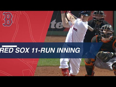 Red Sox rack up 12 hits in huge 11-run 7th inning