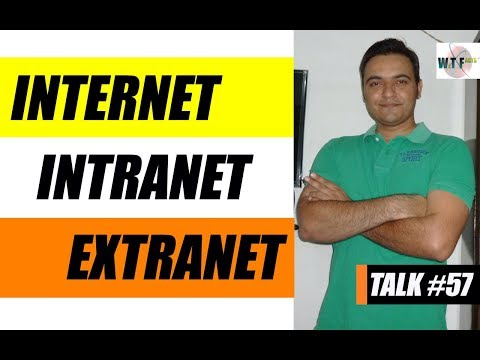 Internet Intranet and Extranet Explained in Hindi | What is Internet Intranet and Extranet