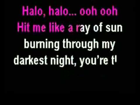 Beyonce Halo Karaoke Instrumental) with Lyrics - YouTube