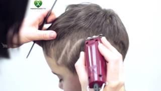 как сделать молнию на голове машинкой