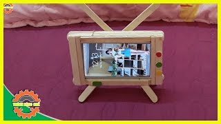 Cách Làm Tivi Mini Siêu Độc Từ Que Kem | How To Make Mini TV Super Single From Ice Cream Stick