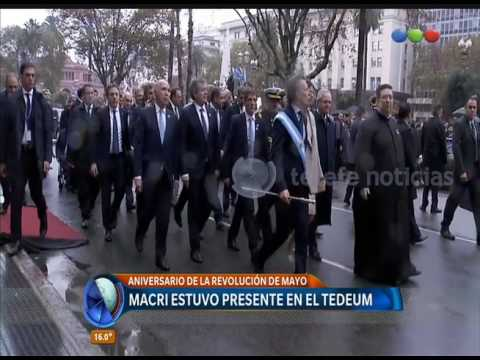 Mauricio Macri participó del Tedeum