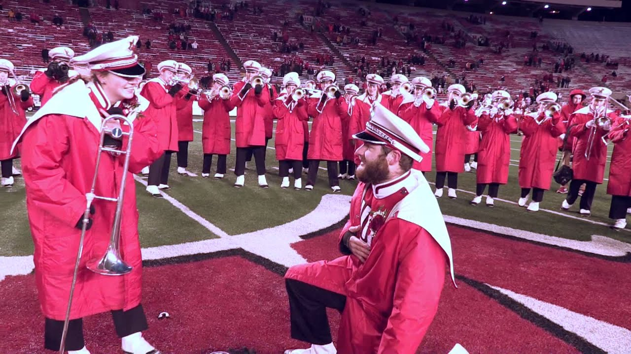 Uw Marching Band 5th Quarter Proposal Youtube