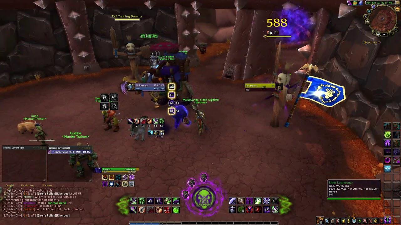 Warlock Weak Auras half done UI BFA 8 0 1