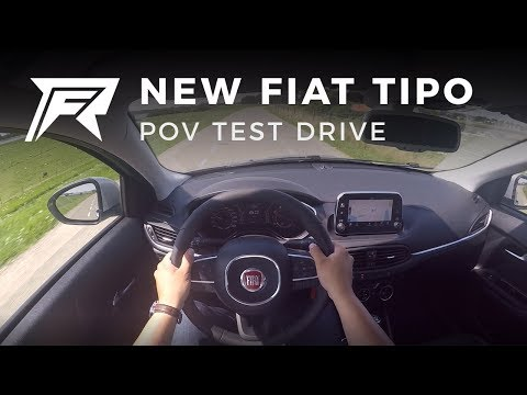 2017 Fiat Tipo 1.4 T-Jet - POV Test Drive (no talking, pure driving)